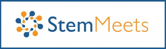 StemMeets logo on the StemJournal website (open access forum for stem cell research)